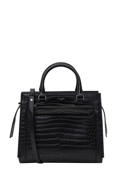 Saint Laurent East Side Medium Tote Bag In Cocco Printed Leather in nero