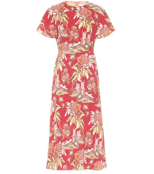 Peter Pilotto Printed midi dress in red