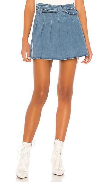 h:ours Last Dance Skirt in denim / denim