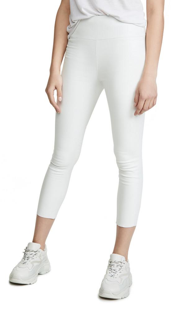 SPRWMN High Waist Crop Leggings in white