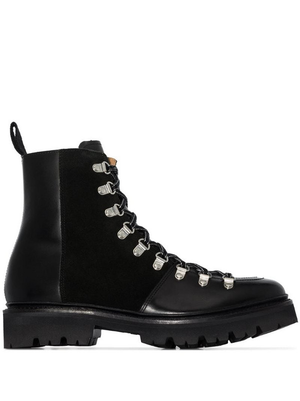 Grenson Nanette lace-up boots in black