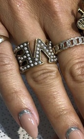 nail accessories,wrap around love ring