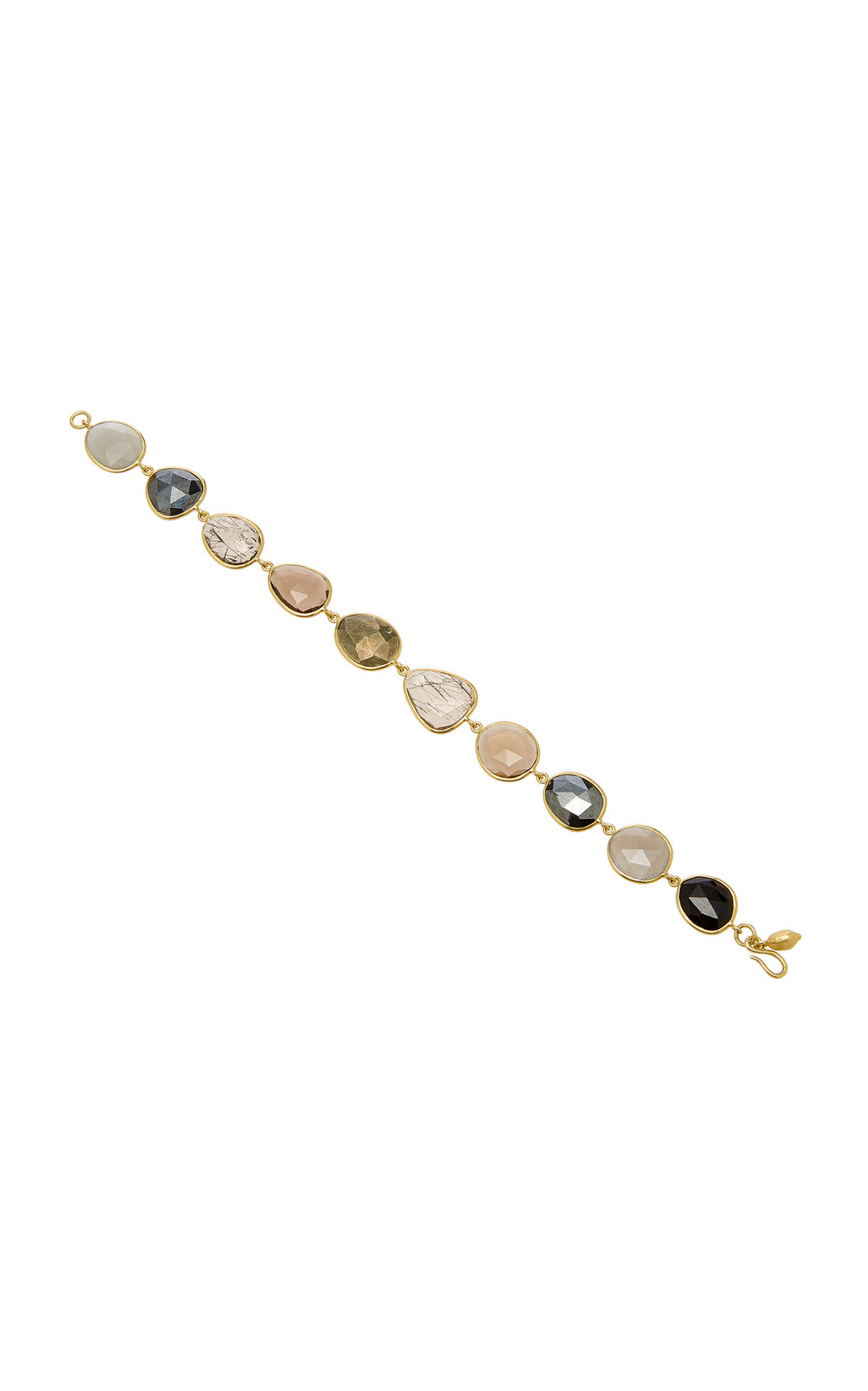 Pippa Small Meteor Shower Full Stone Bracelet in grey