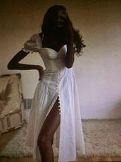 dress,white long dress