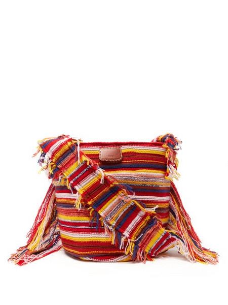 Chloé Chloé - Jorge Small Striped Recycled-cashmere Bucket Bag - Womens - Multi