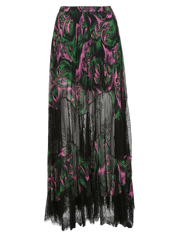 Mcq Alexander Mcqueen Sheer Skirt in green / pink