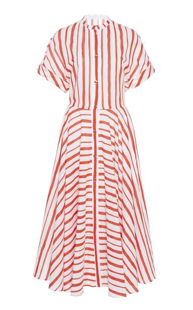 Martin Grant Striped Cotton Midi Dress Size: 36