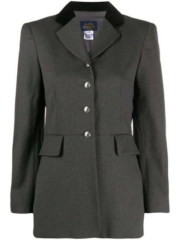 Hermès pre-owned elongated rider jacket in grey