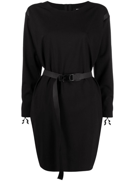 Dsquared2 long-sleeve belted dress in black