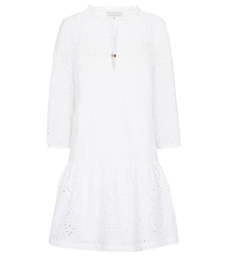 Heidi Klein Solta cotton broderie anglaise minidress in white