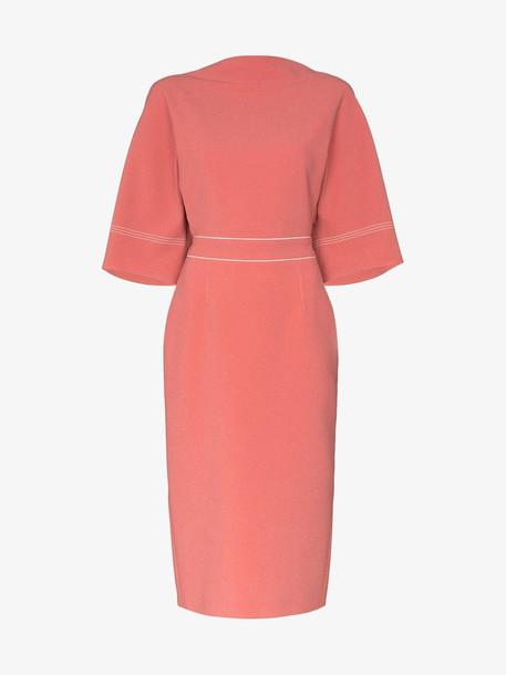 Roksanda Mave bow midi dress in pink