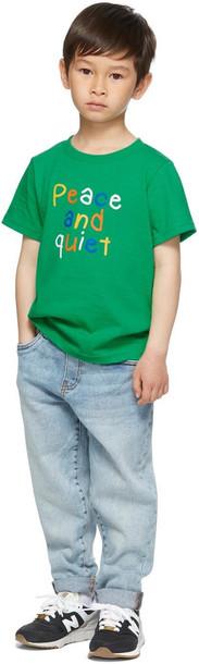 Museum of Peace & Quiet SSENSE Exclusive Kids Green Scribble Little Kids T-Shirt