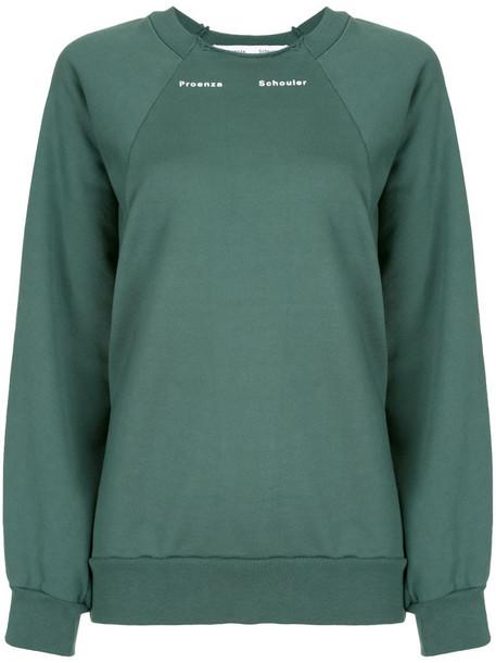 Proenza Schouler White Label crew neck sweatshirt in green