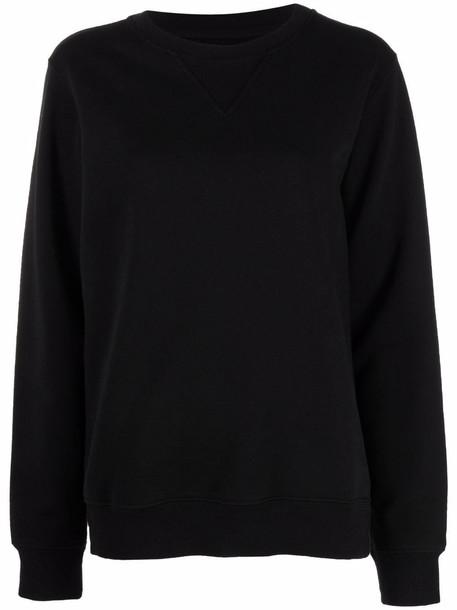 Maison Margiela long-sleeve cotton sweatshirt - Black