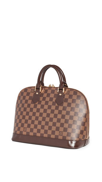Shopbop Archive Louis Vuitton Alma, Damier Ebene Tote in brown