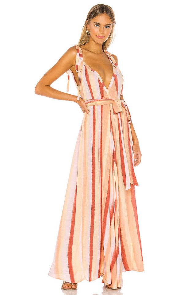 Indah Vivian Modern Goddess Maxi Dress in orange