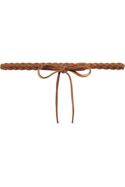 Isabel Marant - Darla Braided Leather Waist Belt - Tan