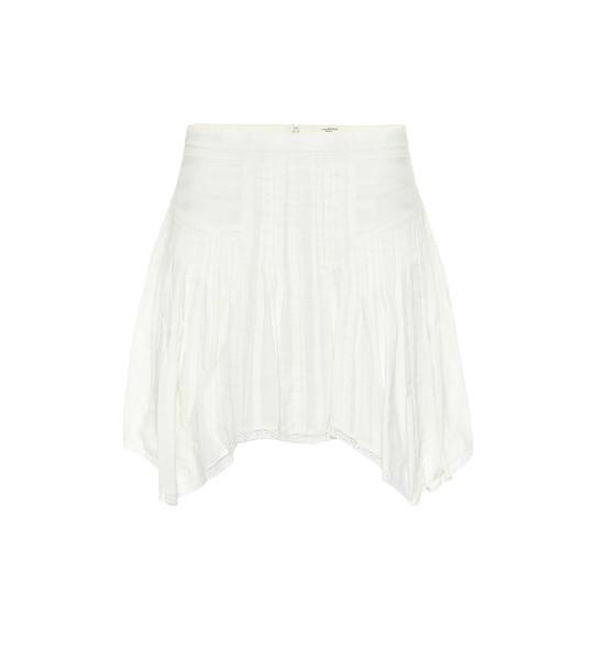 Isabel Marant, Étoile Prandali cotton-voile miniskirt in white
