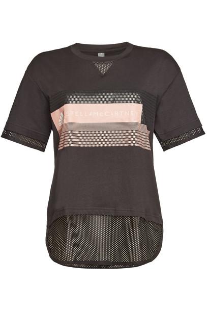 Adidas by Stella McCartney Cotton Logo Print T-Shirt