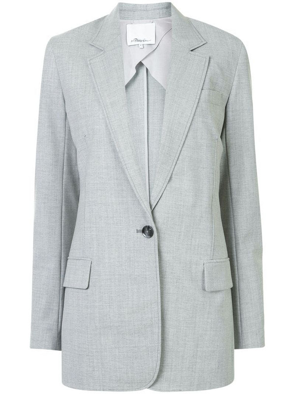 3.1 Phillip Lim chambray single-breasted blazer in grey