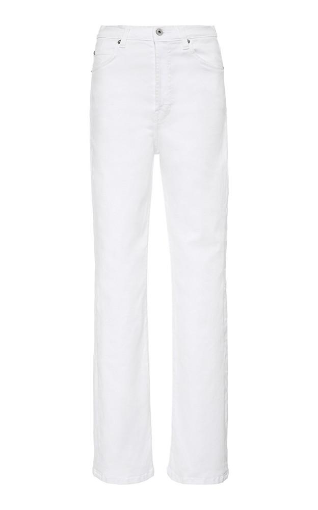 Eve Denim Juliette Mid-Rise Straight-Leg Jeans Size: 24 in white