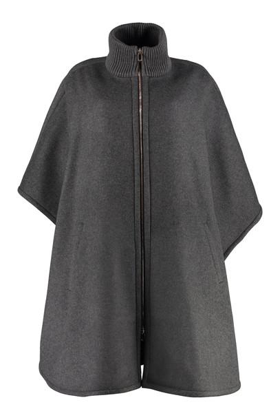 Stella McCartney Wool Cape Coat in grey
