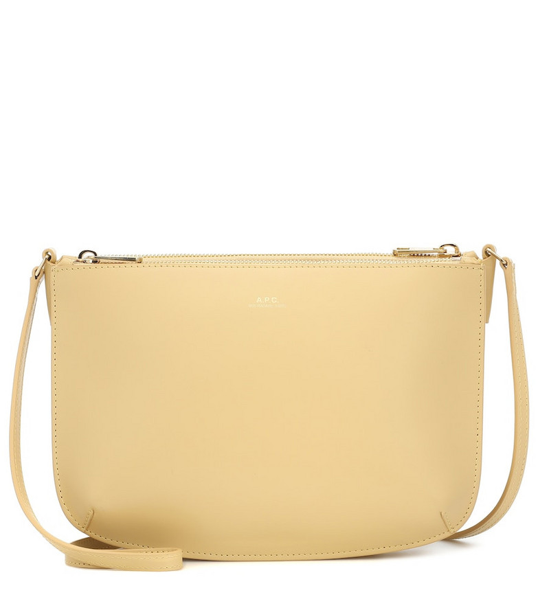 A.P.C. Sarah leather crossbody bag in yellow