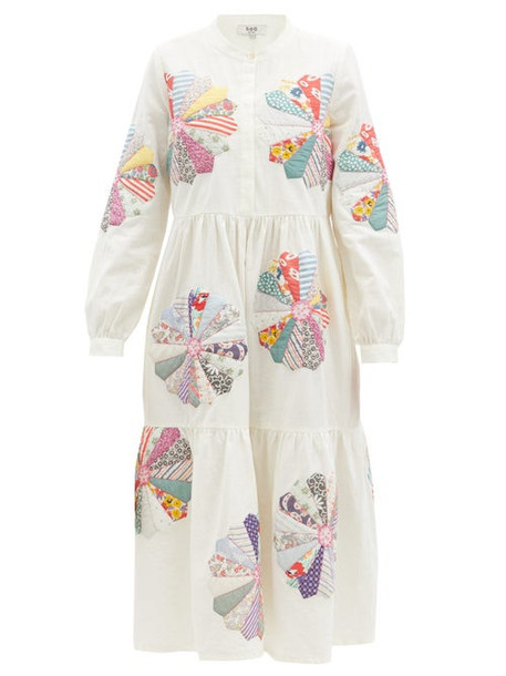 Sea - Paloma Floral-patchwork Cotton Dress - Womens - White Multi