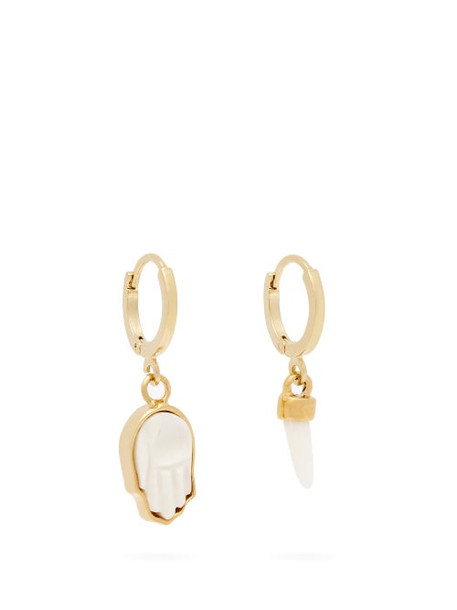Isabel Marant - It's All Right Mismatched Hoop Earrings - Womens - White