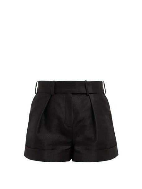 Alexandre Vauthier - High Waist Cotton Blend Oxford Shorts - Womens - Black