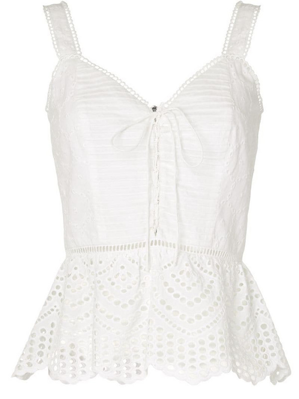 We Are Kindred Lua embroidered cami top in white