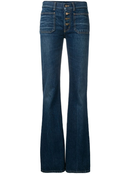 Saint Laurent mid-rised bootcut jeans in blue