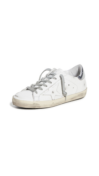 Golden Goose Superstar Sneakers in silver / white