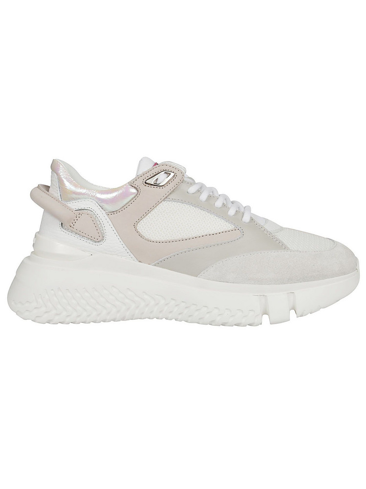 Buscemi Lace-up Platform Sneakers in white