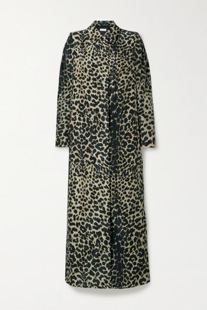 Dries Van Noten - Raia Leopard-print Shell Trench Coat - Leopard print