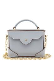 bag,shoulder bag,leather,blue