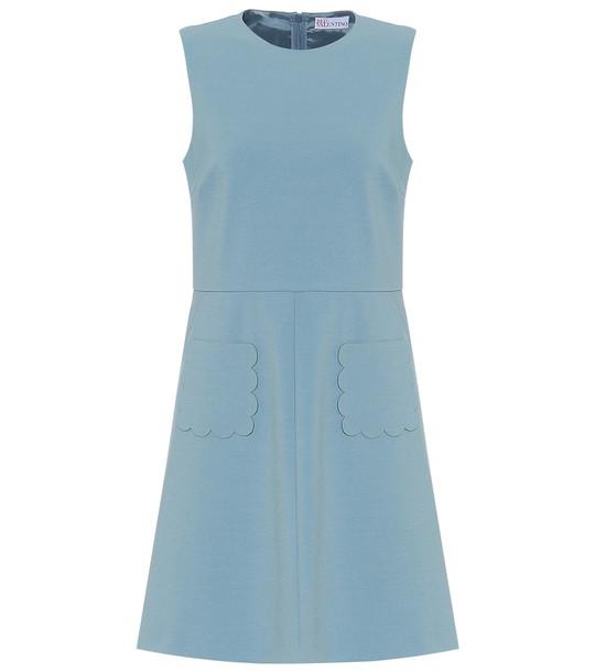 REDValentino Stretch-crêpe dress in blue