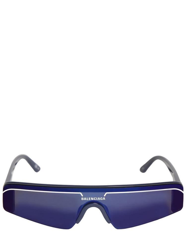 BALENCIAGA Ski Rectangle 0003s Acetate Sunglasses in blue