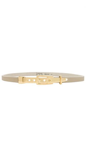 Lovestrength Skinny Waist Belt in Light Grey in natural