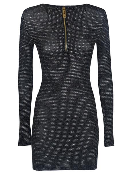 GCDS Zipped Placket Dress in black