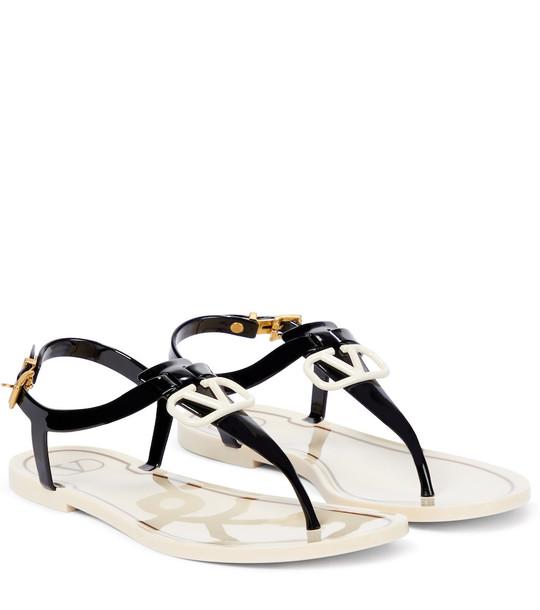 Valentino Garavani VLOGO thong sandals in black