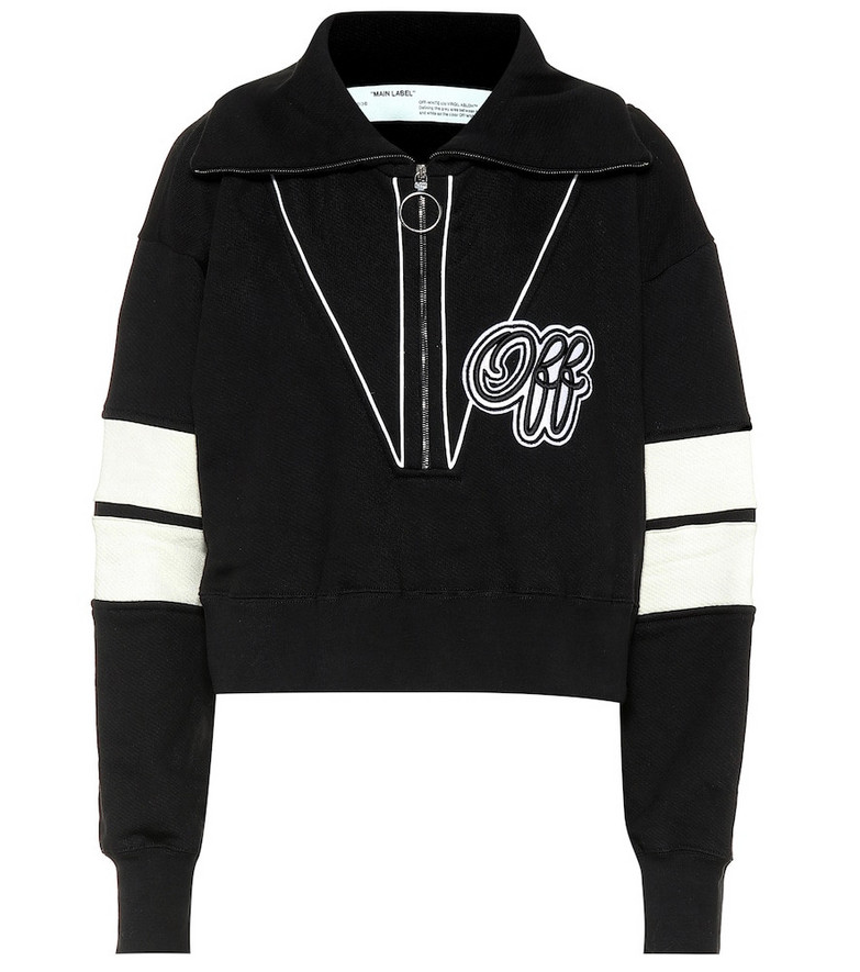 Off-White Oversized cotton-jersey sweater in black