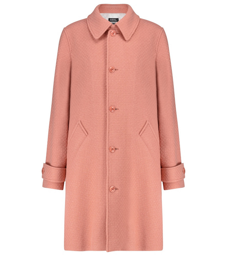 A.P.C. Suzanne wool-blend coat in pink
