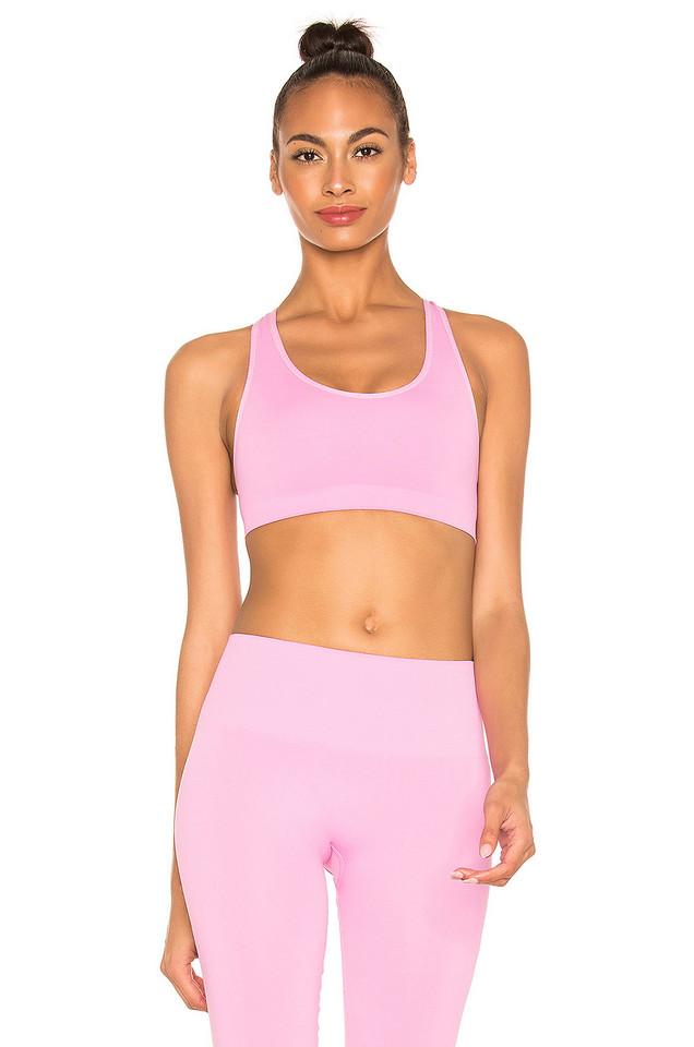 TLA by Morgan Stewart X REVOLVE Cross Back Sports Bra in pink