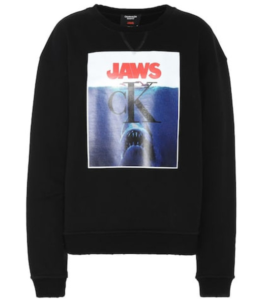 Calvin Klein 205W39NYC Printed cotton sweatshirt in black