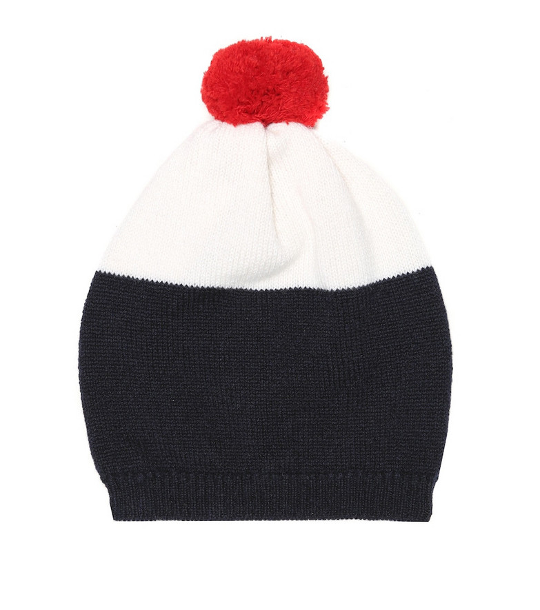 Thom Browne Kids Baby cashmere beanie in blue