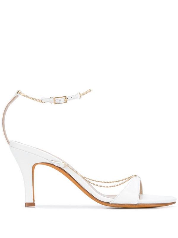 Maryam Nassir Zadeh Aurora chain straps sandals in white