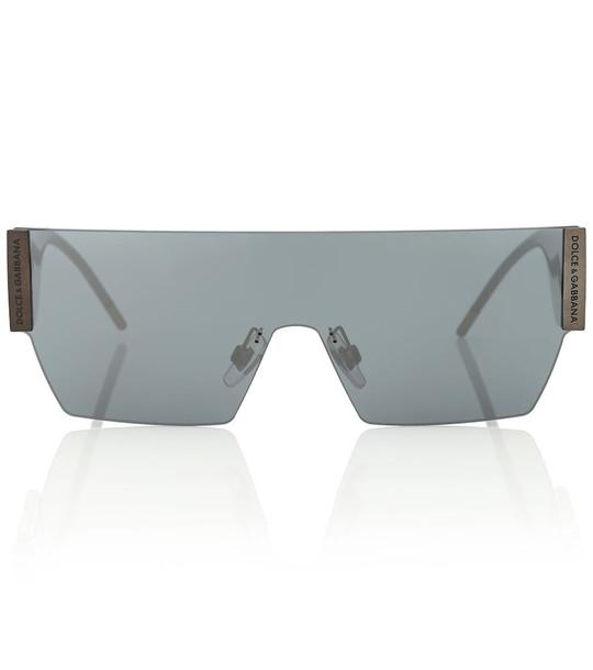 Dolce & Gabbana Rectangular wrap sunglasses in grey