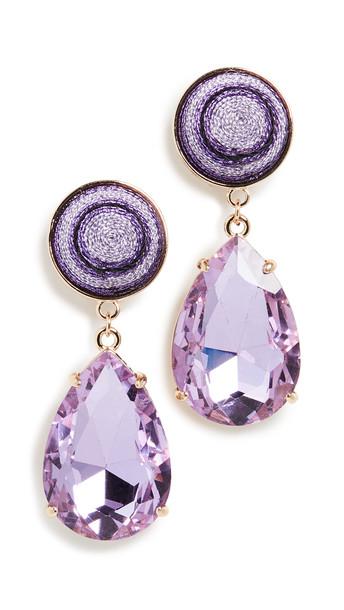 MaryJane Claverol Louis Earrings in purple