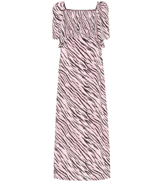 Baum und Pferdgarten Exclusive to Mytheresa – Atena tiger-print maxi dress in pink